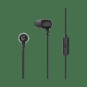 metal earbuds noir